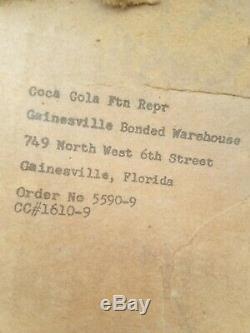Rare Drink Coca-Cola Clock Sign Light Lamp Vintage Coke Hanger Bracket Fish Tail