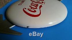 Rare Near Mint Coca Cola 16 White Button with Arrow