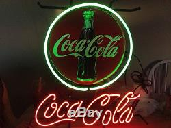 Rare New Coca Cola Soft Drink Coke Beer Bar Shop Open Neon Sign 19x15