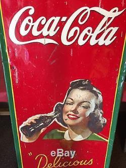 Rare Original Coca Cola Tin Metal Sign Soda Pop Country General Store