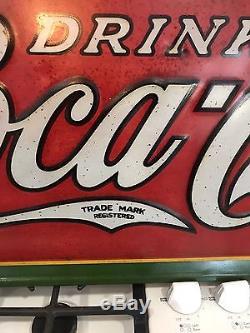 Rare, Original Coca Cola Tin Sign, Coke Sign Advertising 1930s