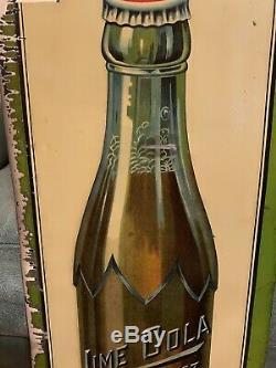 Rare Original Lime Cola Soda Advertising Sign