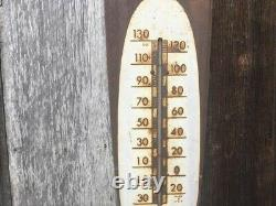 Rare Vintage 1950's Coca Cola Soda Pop 30 Metal Cigar Thermometer SignNice