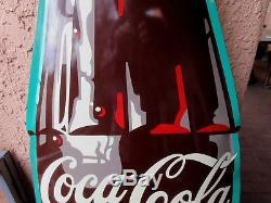 Rare Vintage 6 Foot Metal Coke Bottle Sign Die-cut Great Shape Embossed