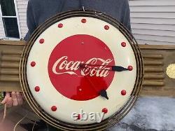 Rare Vintage Coca Cola Clock 1940s/50s