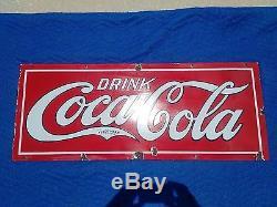 Rare Vintage Coca Cola Porcelain Sign