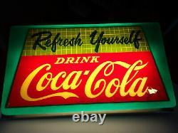 Refresh Yourself drink Coca Cola Rare Electric sign