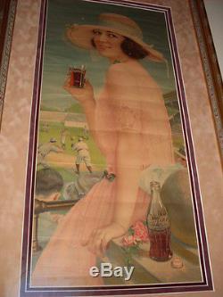 SUPER NICE Rare 1922 Coca Cola SUMMER GIRL Soda Bottle Calendar FULL PAD Sign
