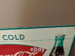 Sign of good taste Ice Cold Coca-Cola Fish Tail Tin Sign Price Reduced
