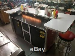 Soda Fountain, Home Bar, Coca Cola cooler, man cave, 50s, sign, vintage kitchen