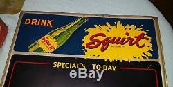 Squirt Soda Menu Board Dated 1941