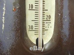 VERY BIG ORIGINAL COCA COLA METAL SIGN 1950's 27 HIGH GREAT CONDITION