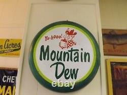 VERY RARE Original 1960's Mountain Dew Bottle Cap Store Soda Sign COLA COKE