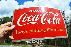 VINTAGE 1950s COCA COLA SODA BARREL SIGN COLLECTABLE NEAR MINT SUPER PIECE