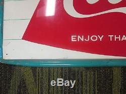 Vintage 1960s Coca Cola Arciform/fishtail Sign 53.5 X 17.5