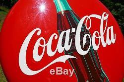 Vintage 24 Coca Cola Soda Bottle Button Sign Dead Mint Investment Quality