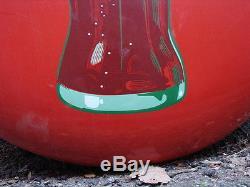 Vintage 36 Coca Cola Soda Bottle Porcelain Metal Button Sign 1950s Advertising