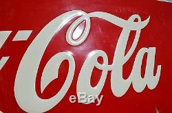 VINTAGE 40's COCA COLA SODA DRINK SIGN SILHOUETTE BOTTLE RARE NICE PIECE N MINT