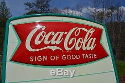 VINTAGE 50s COCA COLA CROWN TOP MENU SIGN OF GOOD TASTE MINT INVESTMENT QUALITY