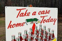 VINTAGE 50s COCA COLA SODA DRINK RED CARPET 24 PACK CASE SIGN MINTY UNFINDABLE