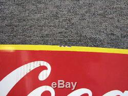 Vintage Coca-cola Delivery Truck Porcelain Roof Topper Sign 50-1/2