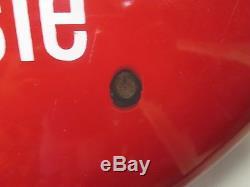 Vintage Coca-cola Large Button Metal/porcelain Sign 36