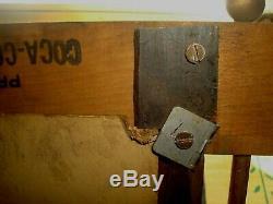 VINTAGE COCA COLA SIGN With WOODEN KAY FRAME COKE SODA BOTTLE CARDBOARD PICTURE