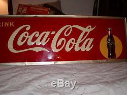 VINTAGE COCA COLA TIN SIGN 1946