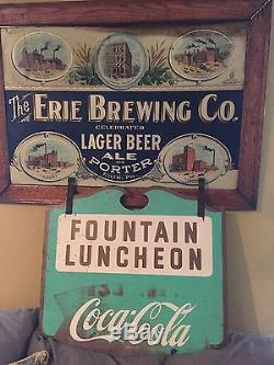 Vintage Different Rare Fishtail Coca Cola Sign Fountain Luncheon Cafe Sign 1960