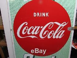 Vintage Porcelain Drugs Soda Coca-cola Advertising Sign! Original