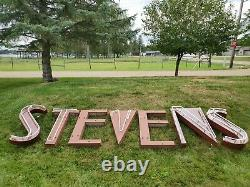 VTG DAWSON & STEVENS COCA-COLA BOTTLE CAP MUSEUM 50s DINER NEON SIGN GRAYLING MI