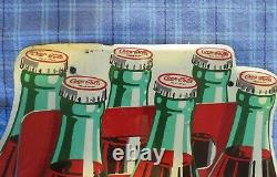 Very Hard To Find Tin Coca-Cola Six Pack, A-M- 1-53 Sign
