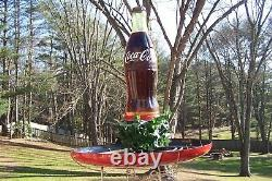 Very Rare 1958 Coca Cola Fountain Service Display with Original Minty Button