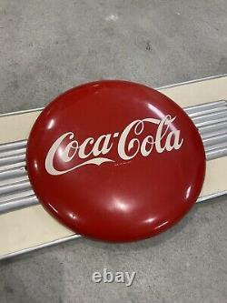 Very Rare Coca Cola Fountain Service Advertising Sign Button