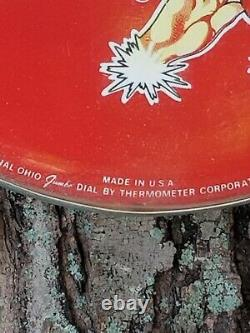 VintageCoca Cola Ohio Jumbo Dial Thermometer With1940's Sprite Boy Logo