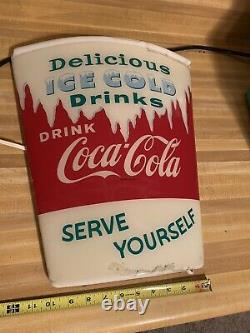 VintageRare Coca-Cola lighted cup sign display rare Vintage Die Cut