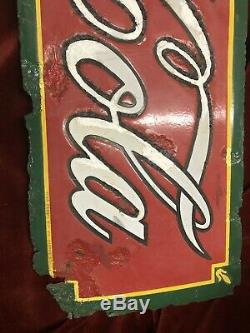 Vintage 1930s CLASSIC Coca Cola sign (from Lifelong Collectors PC)