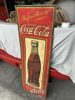 Vintage 1930s Coke Bottle Sign