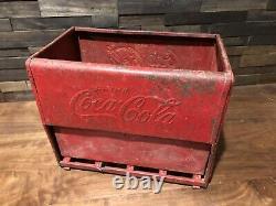 Vintage 1930s Original Coca Cola Salesman Sample Cooler Coke Sign Advertising