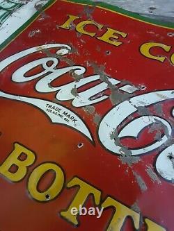 Vintage 1931 Coca Cola Sign, Coca Cola in Bottles Sign, Coke Sign