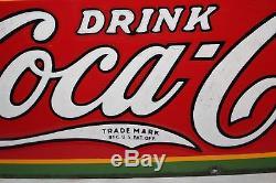 Vintage 1931 Drink Coca Cola Soda Pop Gas Station 30 Porcelain Metal Sign