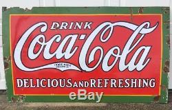 Vintage 1931 Original Coca Cola 3x5 Sign Nashville