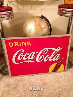 Vintage 1938 Drink Coca Cola Bottle And Yellow Dot Cool