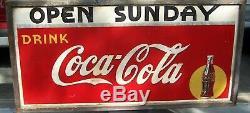 Vintage 1939 Coca-Cola PM Framed Soda Pop Advertisement Sign 72 x 36