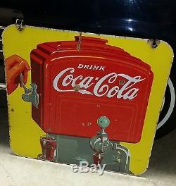 Vintage 1939 Soda Fountain Porcelain Double Sided Coca