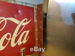 Vintage 1940's Coca Cola Double sided Flange Sign