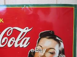 Vintage 1940's Coca Cola Sign No Reserve
