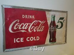Vintage 1940's Coca Cola sign