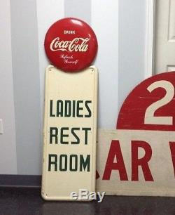 Vintage 1940's Ladies Room Coca-Cola Sign Rare