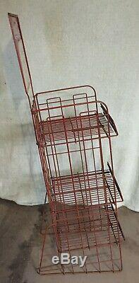 Vintage 1940s Coca Cola Wire Display Rack Coke Sign Advertising Rare Style